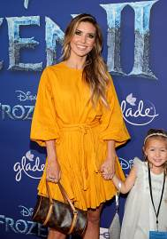 "HOLLYWOOD, CALIFORNIA - NOVEMBER 07: (L-R) Audrina Patridge and Kirra Max Bohan attend the world premiere of Disney's ""Frozen 2"" at Hollywood's Dolby Theatre on Thursday, November 7, 2019 in Hollywood, California. (Photo by Jesse Grant/Getty Images for Disney)"