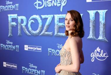 "HOLLYWOOD, CALIFORNIA - NOVEMBER 07: Actress Evan Rachel Wood attends the world premiere of Disney's ""Frozen 2"" at Hollywood's Dolby Theatre on Thursday, November 7, 2019 in Hollywood, California. (Photo by Jesse Grant/Getty Images for Disney)"