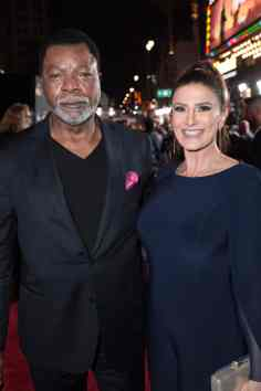 "Carl Weathers and Christine Kludjian arrive at the premiere of Lucasfilm's first-ever, live-action series, ""The Mandalorian"", at the El Capitan Theatre in Hollywood, CA on November 13, 2019. ""The Mandalorian"" streams exclusively on Disney+.(photo: Alex J. Berliner/ABImages)"