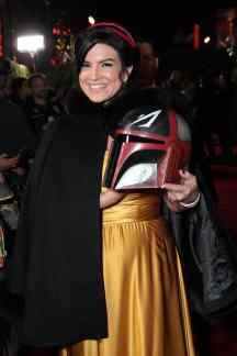 "Gina Carano arrives at the premiere of Lucasfilm's first-ever, live-action series, ""The Mandalorian"", at the El Capitan Theatre in Hollywood, CA on November 13, 2019. ""The Mandalorian"" streams exclusively on Disney+.(photo: Alex J. Berliner/ABImages)"