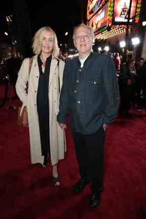 "Lena and Werner Herzog arrive at the premiere of Lucasfilm's first-ever, live-action series, ""The Mandalorian"", at the El Capitan Theatre in Hollywood, CA on November 13, 2019. ""The Mandalorian"" streams exclusively on Disney+.(photo: Alex J. Berliner/ABImages)"