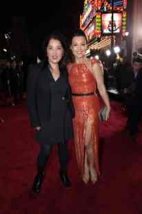 "Director Deborah Chow and Ming-Na Wen arrives at the premiere of Lucasfilm's first-ever, live-action series, ""The Mandalorian"", at the El Capitan Theatre in Hollywood, CA on November 13, 2019. ""The Mandalorian"" streams exclusively on Disney+.(photo: Alex J. Berliner/ABImages)"