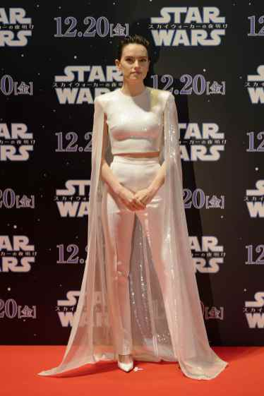 TOKYO, JAPAN - DECEMBER 11: Daisy Ridley attends the special fan event for 'Star Wars: The Rise of Skywalker' at Roppongi Hills on December 11, 2019 in Tokyo, Japan. (Photo by Christopher Jue/Getty Images for Disney)