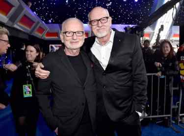 "HOLLYWOOD, CALIFORNIA - DECEMBER 16: (L-R) Ian McDiarmid and Frank Oz arrive for the World Premiere of ""Star Wars: The Rise of Skywalker"", the highly anticipated conclusion of the Skywalker saga on December 16, 2019 in Hollywood, California. (Photo by Alberto E. Rodriguez/Getty Images for Disney)"