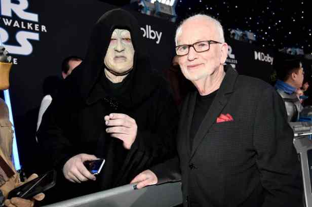 "HOLLYWOOD, CALIFORNIA - DECEMBER 16: Ian McDiarmid arrives for the World Premiere of ""Star Wars: The Rise of Skywalker"", the highly anticipated conclusion of the Skywalker saga on December 16, 2019 in Hollywood, California. (Photo by Alberto E. Rodriguez/Getty Images for Disney)"