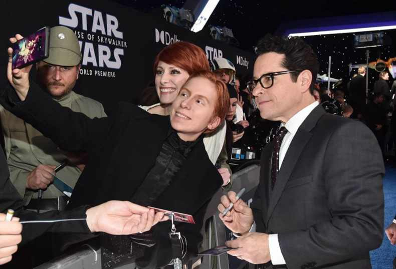 "HOLLYWOOD, CALIFORNIA - DECEMBER 16: Director, Writer and Producer J.J. Abrams arrives for the World Premiere of ""Star Wars: The Rise of Skywalker"", the highly anticipated conclusion of the Skywalker saga on December 16, 2019 in Hollywood, California. (Photo by Alberto E. Rodriguez/Getty Images for Disney)"