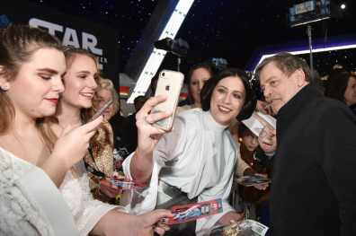 "HOLLYWOOD, CALIFORNIA - DECEMBER 16: Mark Hamill arrives for the World Premiere of ""Star Wars: The Rise of Skywalker"", the highly anticipated conclusion of the Skywalker saga on December 16, 2019 in Hollywood, California. (Photo by Alberto E. Rodriguez/Getty Images for Disney)"