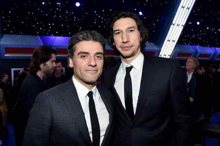 "HOLLYWOOD, CALIFORNIA - DECEMBER 16: (L-R) Oscar Isaac and Adam Driver attend the World Premiere of ""Star Wars: The Rise of Skywalker"", the highly anticipated conclusion of the Skywalker saga on December 16, 2019 in Hollywood, California. (Photo by Alberto E. Rodriguez/Getty Images for Disney)"