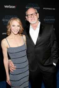 "HOLLYWOOD, CALIFORNIA - DECEMBER 16: (L-R) Victoria Labalme and Frank Oz arrive for the World Premiere of ""Star Wars: The Rise of Skywalker"", the highly anticipated conclusion of the Skywalker saga on December 16, 2019 in Hollywood, California. (Photo by Jesse Grant/Getty Images for Disney)"