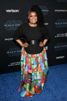 "HOLLYWOOD, CALIFORNIA - DECEMBER 16: Yvette Nicole Brown arrives for the World Premiere of ""Star Wars: The Rise of Skywalker"", the highly anticipated conclusion of the Skywalker saga on December 16, 2019 in Hollywood, California. (Photo by Jesse Grant/Getty Images for Disney)"