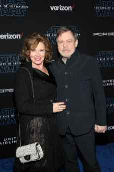 "HOLLYWOOD, CALIFORNIA - DECEMBER 16: (L-R) Marilou York and Mark Hamill arrive for the World Premiere of ""Star Wars: The Rise of Skywalker"", the highly anticipated conclusion of the Skywalker saga on December 16, 2019 in Hollywood, California. (Photo by Jesse Grant/Getty Images for Disney)"
