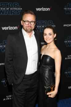 "HOLLYWOOD, CALIFORNIA - DECEMBER 16: (L-R) Joachim Rønning and Amanda Hearst arrive for the World Premiere of ""Star Wars: The Rise of Skywalker"", the highly anticipated conclusion of the Skywalker saga on December 16, 2019 in Hollywood, California. (Photo by Jesse Grant/Getty Images for Disney)"