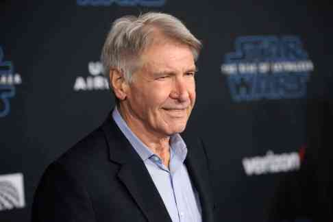 "HOLLYWOOD, CALIFORNIA - DECEMBER 16: Harrison Ford arrives for the World Premiere of ""Star Wars: The Rise of Skywalker"", the highly anticipated conclusion of the Skywalker saga on December 16, 2019 in Hollywood, California. (Photo by Jesse Grant/Getty Images for Disney)"