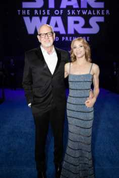 Frank Oz and Victoria Labalme arrive for the World Premiere of Star Wars: The Rise of Skywalker, the highly anticipated conclusion of the Skywalker saga, in Hollywood, CA, on December 16, 2019..(photo: Alex J. Berliner/ABImages)