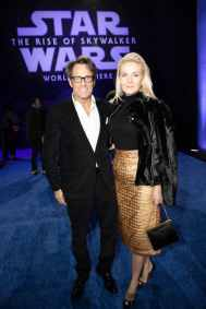 Michael Kaplan and Cornelia Guest arrive for the World Premiere of Star Wars: The Rise of Skywalker, the highly anticipated conclusion of the Skywalker saga, in Hollywood, CA, on December 16, 2019..(photo: Alex J. Berliner/ABImages)