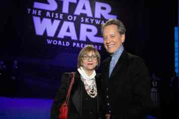 Joan Washington and Richard E. Grant arrive for the World Premiere of Star Wars: The Rise of Skywalker, the highly anticipated conclusion of the Skywalker saga, in Hollywood, CA, on December 16, 2019..(photo: Alex J. Berliner/ABImages)