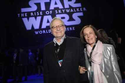 Lawrence and Meg Kasdan arrive for the World Premiere of Star Wars: The Rise of Skywalker, the highly anticipated conclusion of the Skywalker saga, in Hollywood, CA, on December 16, 2019. (photo: Alex J. Berliner/ABImages)