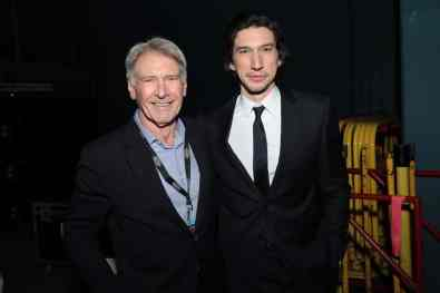 Harrison Ford and Adam Driver arrive for the World Premiere of Star Wars: The Rise of Skywalker, the highly anticipated conclusion of the Skywalker saga, in Hollywood, CA, on December 16, 2019. (photo: Alex J. Berliner/ABImages)