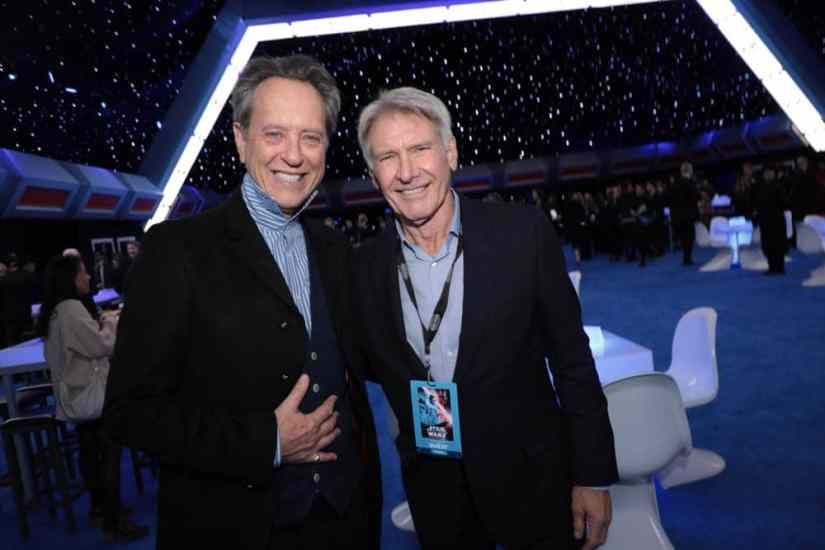 Richard E. Grant and Harrison Ford attend the World Premiere of Star Wars: The Rise of Skywalker, the highly anticipated conclusion of the Skywalker saga after party, in Hollywood, CA, on December 16, 2019. (photo: Alex J. Berliner/ABImages)