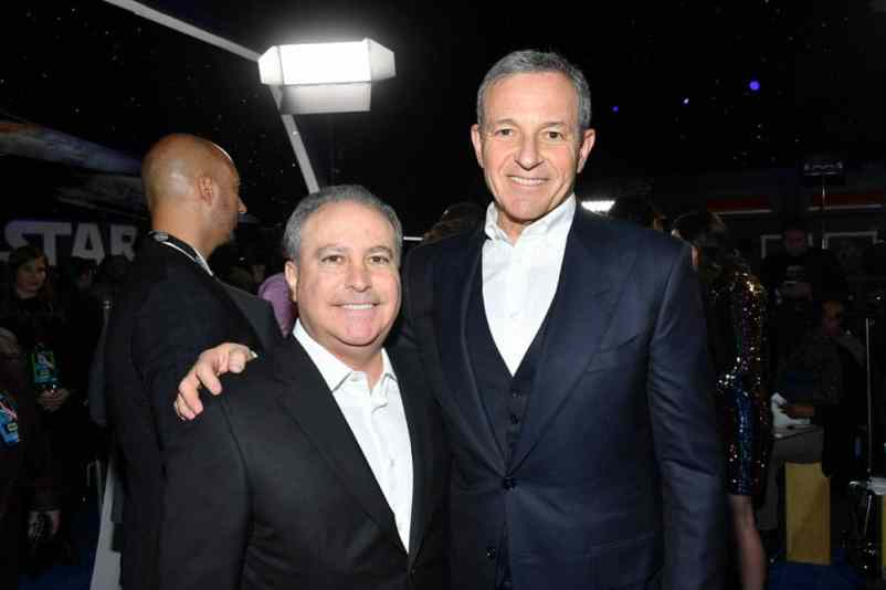 "HOLLYWOOD, CALIFORNIA - DECEMBER 16: Co-Chairman, The Walt Disney Studios Alan Bergman and The Walt Disney Company Chairman and CEO Bob Iger arrive for the World Premiere of ""Star Wars: The Rise of Skywalker"", the highly anticipated conclusion of the Skywalker saga on December 16, 2019 in Hollywood, California. (Photo by Amy Sussman/Getty Images for Disney)"