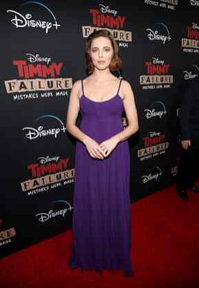 """HOLLYWOOD, CALIFORNIA - JANUARY 30: Ophelia Lovibond attends the premiere of Disney's """"Timmy Failure: Mistakes Were Made"""" at Hollywood's El Capitan Theater on January 30, 2020. """"Timmy Failure: Mistakes Were Made"""" premieres on February 7, 2020, streaming only on Disney+. (Photo by Jesse Grant/Getty Images for Disney)"""
