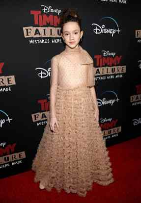 """HOLLYWOOD, CALIFORNIA - JANUARY 30: Chloe Coleman attends the premiere of Disney's """"Timmy Failure: Mistakes Were Made"""" at Hollywood's El Capitan Theater on January 30, 2020. """"Timmy Failure: Mistakes Were Made"""" premieres on February 7, 2020, streaming only on Disney+. (Photo by Jesse Grant/Getty Images for Disney)"""