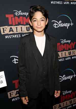 """HOLLYWOOD, CALIFORNIA - JANUARY 30: Santiago Veizaga attends the premiere of Disney's """"Timmy Failure: Mistakes Were Made"""" at Hollywood's El Capitan Theater on January 30, 2020. """"Timmy Failure: Mistakes Were Made"""" premieres on February 7, 2020, streaming only on Disney+. (Photo by Jesse Grant/Getty Images for Disney)"""