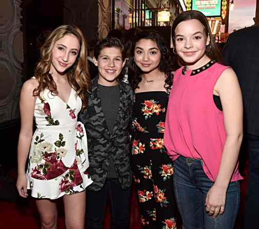 """HOLLYWOOD, CALIFORNIA - JANUARY 30: Ava Kolker, Jackson Dollinger, Julia Garcia and Amelia Wray attend the premiere of Disney's """"Timmy Failure: Mistakes Were Made"""" at Hollywood's El Capitan Theater on January 30, 2020. """"Timmy Failure: Mistakes Were Made"""" premieres on February 7, 2020, streaming only on Disney+. (Photo by Alberto E. Rodriguez/Getty Images for Disney)"""