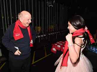 """HOLLYWOOD, CALIFORNIA - JANUARY 30: Wallace Shawn and Ai-Chan Carrier attend the premiere of Disney's """"Timmy Failure: Mistakes Were Made"""" at Hollywood's El Capitan Theater on January 30, 2020. """"Timmy Failure: Mistakes Were Made"""" premieres on February 7, 2020, streaming only on Disney+. (Photo by Alberto E. Rodriguez/Getty Images for Disney)"""