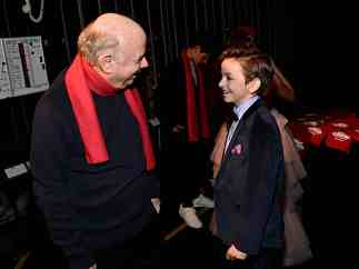 """HOLLYWOOD, CALIFORNIA - JANUARY 30: Wallace Shawn and Winslow Fegley attend the premiere of Disney's """"Timmy Failure: Mistakes Were Made"""" at Hollywood's El Capitan Theater on January 30, 2020. """"Timmy Failure: Mistakes Were Made"""" premieres on February 7, 2020, streaming only on Disney+. (Photo by Alberto E. Rodriguez/Getty Images for Disney)"""