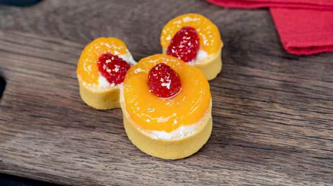 This citrus Mickey tart can be found at Disney California Adventure Park as Disneyland Resort celebrates the Year of the Mouse this Lunar New Year, Jan. 17 through Feb. 9, 2020. During the 24 days of this multicultural celebration, guests will enjoy exciting live entertainment and musical performances, plus inspired food and beverage items across festival marketplaces. (David/Nguyen Disneyland Resort)