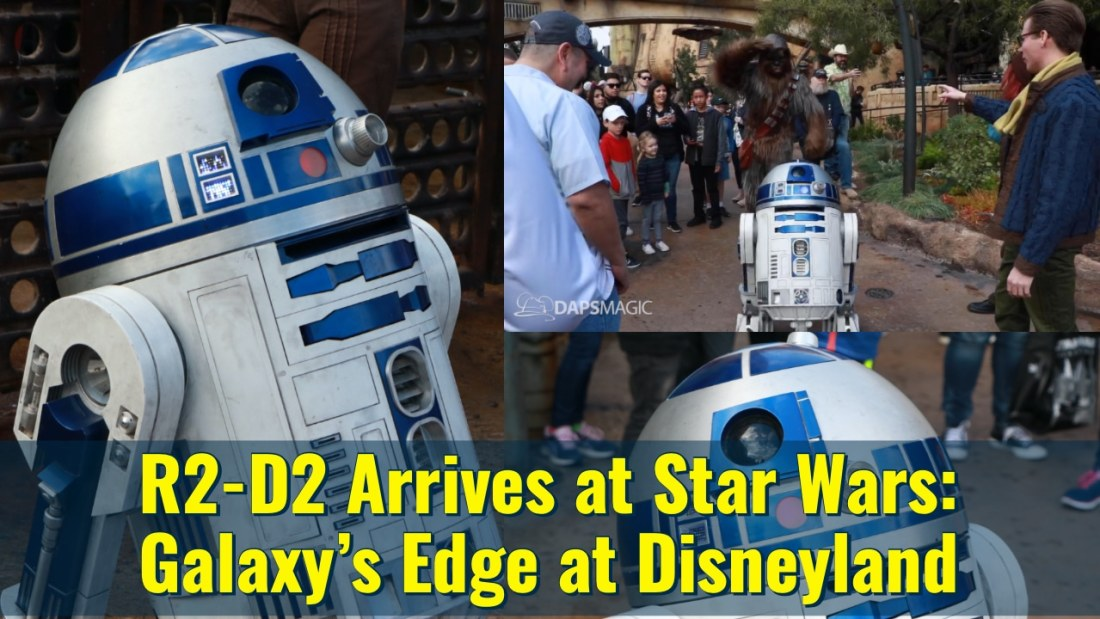 R2-D2 Arrives at Star Wars_ Galaxy's Edge at Disneyland