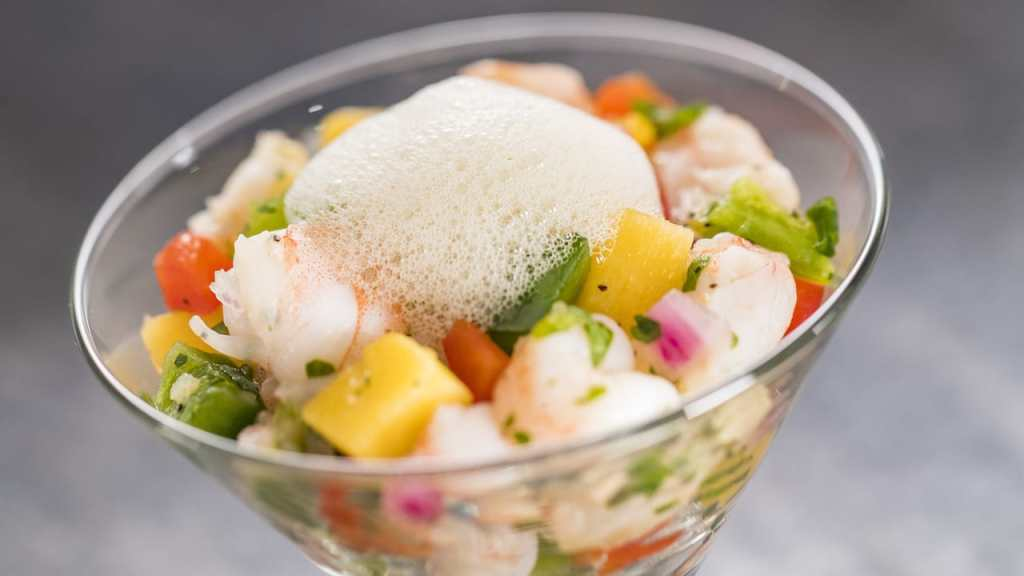 Shrimp Ceviche with Lime-Mint Foam - Epcot International Festival of the Arts - GEEK EATS Disney Recipe