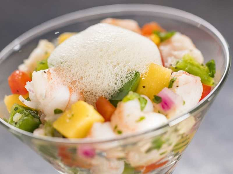 Shrimp Ceviche with Lime-Mint Foam - Epcot International Festival of the Arts - GEEK EATS Disney Recipe