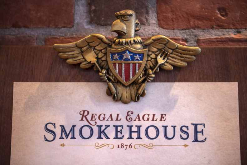 Regal Eagle Smokehouse: Craft Drafts & Barbecue is a fast-casual restaurant located at EPCOT at Walt Disney World Resort in Lake Buena Vista, Fla. Here, guests will enjoy classic American backyard barbecue and home-style craft brews. (Kent Phillips, Photographer)