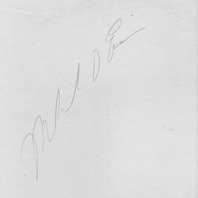An autograph from… Mikel O. Eis?