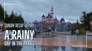 A Rainy Day in the Parks - Sunday Recap Report