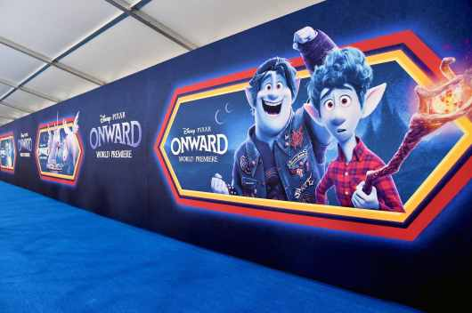 HOLLYWOOD, CALIFORNIA - FEBRUARY 18: View of atmosphere at the world premiere of Disney and Pixar's ONWARD at the El Capitan Theatre on February 18, 2020 in Hollywood, California. (Photo by Alberto E. Rodriguez/Getty Images for Disney)