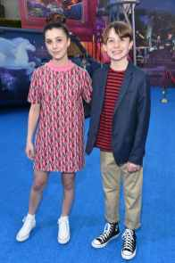 HOLLYWOOD, CALIFORNIA - FEBRUARY 18: (L-R) Mia Sinclair Jenness and Brady Jenness attend the world premiere of Disney and Pixar's ONWARD at the El Capitan Theatre on February 18, 2020 in Hollywood, California. (Photo by Alberto E. Rodriguez/Getty Images for Disney)