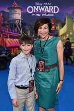 HOLLYWOOD, CALIFORNIA - FEBRUARY 18: Producer Katherine Sarafian (R) and guest attends the world premiere of Disney and Pixar's ONWARD at the El Capitan Theatre on February 18, 2020 in Hollywood, California. (Photo by Alberto E. Rodriguez/Getty Images for Disney)