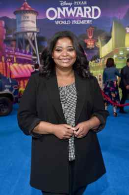 HOLLYWOOD, CALIFORNIA - FEBRUARY 18: Octavia Spencer attends the world premiere of Disney and Pixar's ONWARD at the El Capitan Theatre on February 18, 2020 in Hollywood, California. (Photo by Alberto E. Rodriguez/Getty Images for Disney)