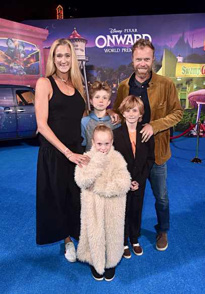 HOLLYWOOD, CALIFORNIA - FEBRUARY 18: (L-R) Kerri Walsh Jennings, Joseph Michael Jennings, Scout Margery Jennings, Sundance Thomas Jennings, and Casey Jennings attend the world premiere of Disney and Pixar's ONWARD at the El Capitan Theatre on February 18, 2020 in Hollywood, California. (Photo by Alberto E. Rodriguez/Getty Images for Disney)