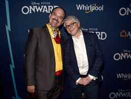 HOLLYWOOD, CALIFORNIA - FEBRUARY 18: (L-R) Mel Rodriguez and Dave Foley attend the world premiere of Disney and Pixar's ONWARD at the El Capitan Theatre on February 18, 2020 in Hollywood, California. (Photo by Alberto E. Rodriguez/Getty Images for Disney)