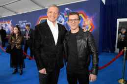 HOLLYWOOD, CALIFORNIA - FEBRUARY 18: (L-R) The Walt Disney Company Chairman and CEO Bob Iger and Tom Holland attend the world premiere of Disney and Pixar's ONWARD at the El Capitan Theatre on February 18, 2020 in Hollywood, California. (Photo by Charley Gallay/Getty Images for Disney)