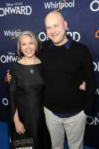 HOLLYWOOD, CALIFORNIA - FEBRUARY 18: (L-R) Michele Scanlon and director/screenwriter Dan Scanlon attend the world premiere of Disney and Pixar's ONWARD at the El Capitan Theatre on February 18, 2020 in Hollywood, California. (Photo by Jesse Grant/Getty Images for Disney)