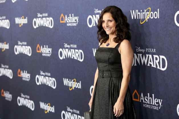 HOLLYWOOD, CALIFORNIA - FEBRUARY 18: Julia Louis-Dreyfus attends the world premiere of Disney and Pixar's ONWARD at the El Capitan Theatre on February 18, 2020 in Hollywood, California. (Photo by Jesse Grant/Getty Images for Disney)