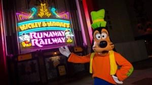 Mickey & Minnie's Runaway Railway Marquee Unveiled