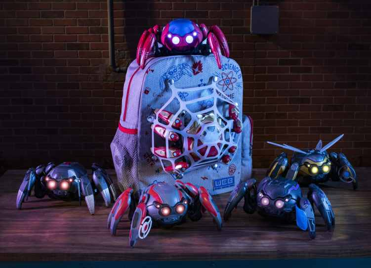 Guests visiting Avengers Campus at Disney California Adventure Park in Anaheim, California, can enhance their Spider-Bot sidekicks at WEB Suppliers with tactical upgrades that changes their appearance and battle capabilities. The tactical upgrades are inspired by favorite Super Heroes including Black Panther, Iron Man, Black Widow, Ant-Man and The Wasp. Sold separately, the Spider-Man backpack is perfect for carrying all their hero-in-training essentials, including their very own Spider-Bot. Avengers Campus opens July 18, 2020. (David Roark/Disneyland Resort)