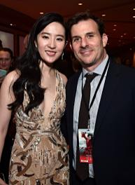 HOLLYWOOD, CALIFORNIA - MARCH 09: Yifei Liu and producer Chris Bender attend the World Premiere of Disney's 'MULAN' at the Dolby Theatre on March 09, 2020 in Hollywood, California. (Photo by Alberto E. Rodriguez/Getty Images for Disney)