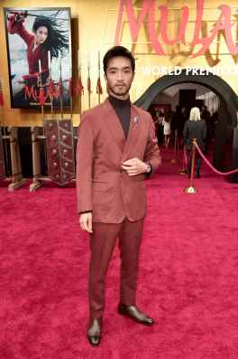 HOLLYWOOD, CALIFORNIA - MARCH 09: Yoson An attends the World Premiere of Disney's 'MULAN' at the Dolby Theatre on March 09, 2020 in Hollywood, California. (Photo by Alberto E. Rodriguez/Getty Images for Disney)